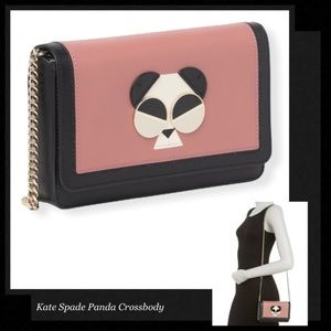 KATE SPADE Gentle Panda Chain Crossbody Wallet Bag